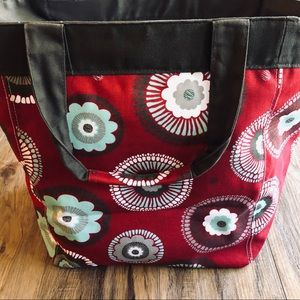 Thirty One large Andrew garden tote bag red